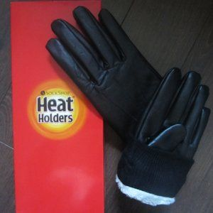 NEW! Heat Holders Men's Leather Gloves - Size M/L